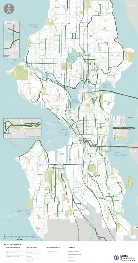 Seattle Area Bike Maps | Seattle Bike Blog - Printable Map Of Seattle