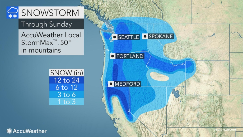 Seattle Buriedbiggest Snowstorm In 2 Years This Weekend - Northern California Radar Map