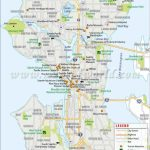Seattle City Map | #worldmapstore | Seattle City, Washington Map   Printable Map Of Seattle Area