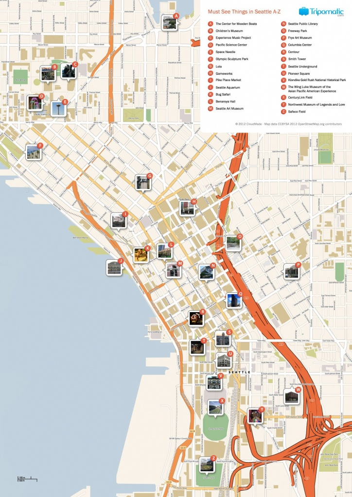 Seattle Printable Tourist Map | Free Tourist Maps ✈ | Seattle - Printable Map Of Seattle Area
