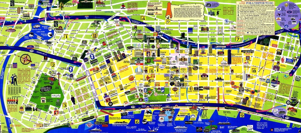 Seattle Tourist Map And Travel Information   Download Free Seattle - Seattle Tourist Map Printable
