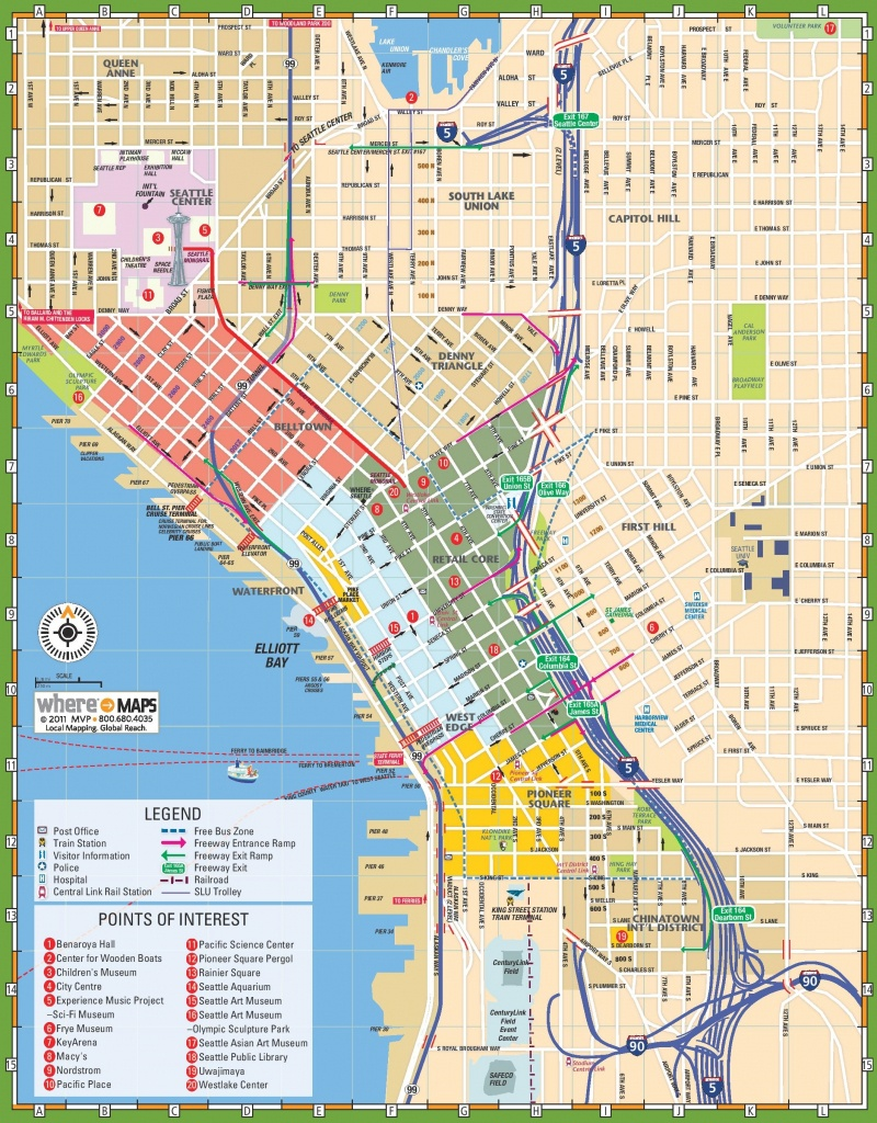 Seattle Tourist Map - Printable Map Of Seattle Area