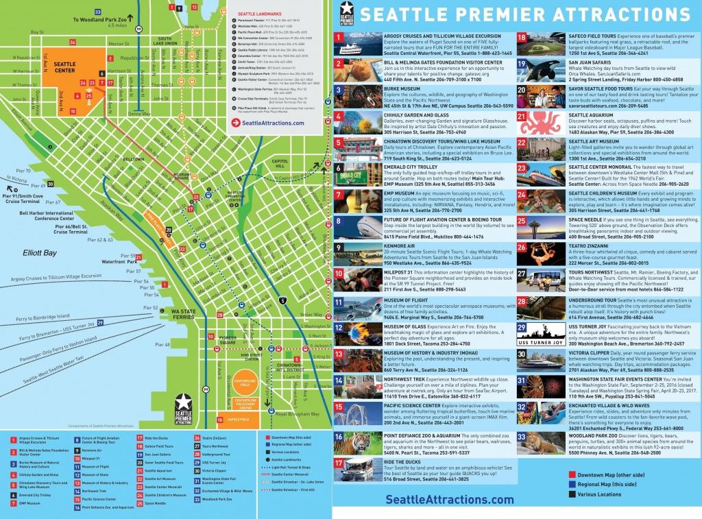 Seattle Tourist Map - Tourist Map Of Seattle (Washington - Usa) - Seattle Tourist Map Printable
