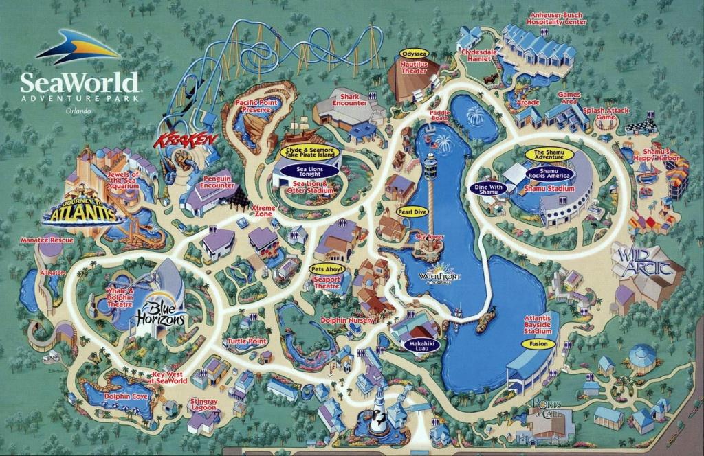 Seaworld Map Orlando - 7007 Sea Harbor Dr Orlando Fl • Mappery - Printable Sea World Map