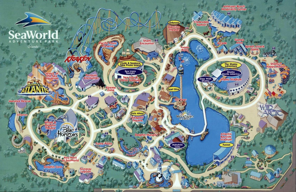 Seaworld Map Orlando - 7007 Sea Harbor Dr Orlando Fl • Mappery - Seaworld Orlando Park Map Printable