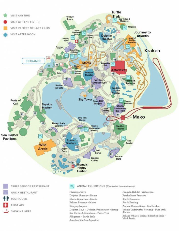 Seaworld Orlando Map Printable