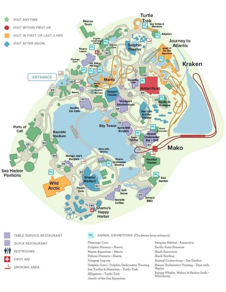 Seaworld® Orlando General Map | Disney Trip ✈ June 2019 - Seaworld Orlando Map Printable