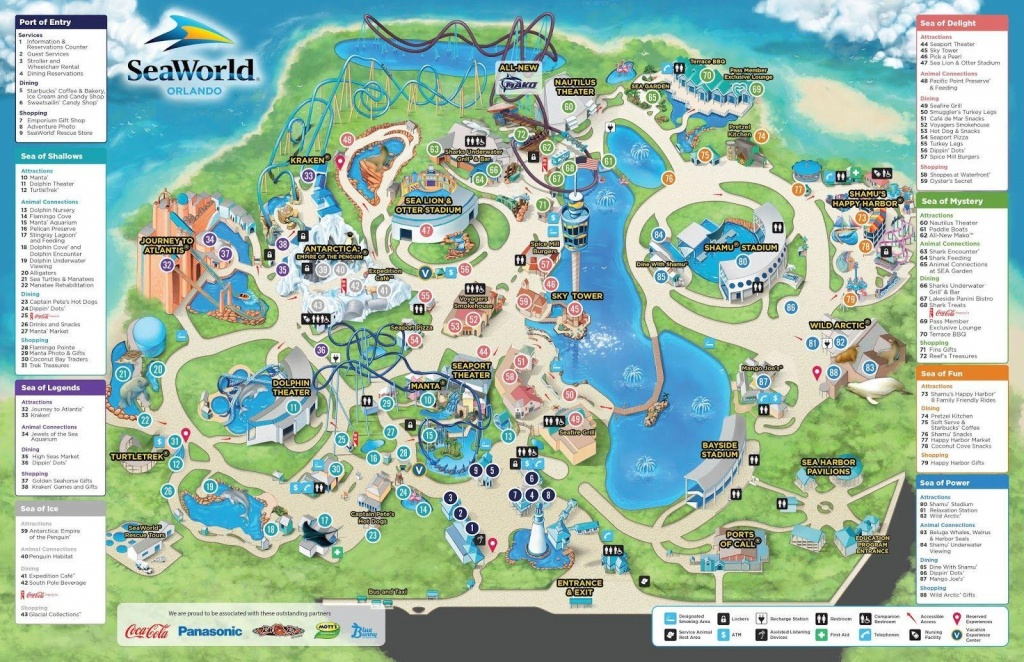 Seaworld Orlando Map - Map Of Seaworld (Florida - Usa) - Seaworld Orlando Map Printable