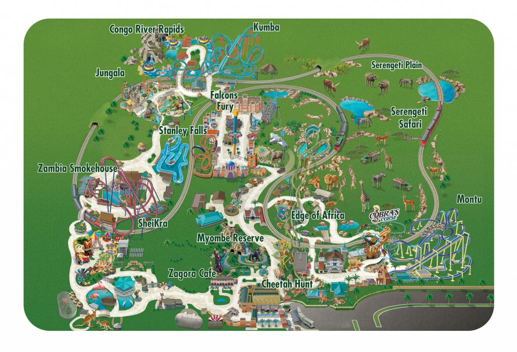Seaworld Parks & Entertainment   Know Before You Go   Busch Gardens - Busch Gardens Florida Map