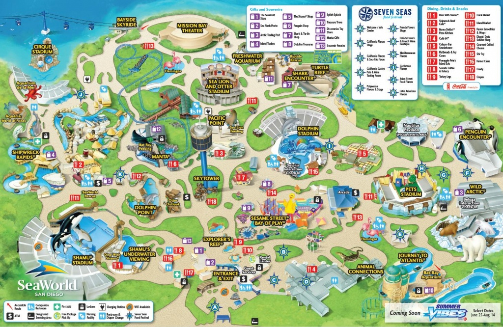 Seaworld San Diego Map - Map Of Seaworld San Diego (California - Usa) - Seaworld San Diego Printable Map