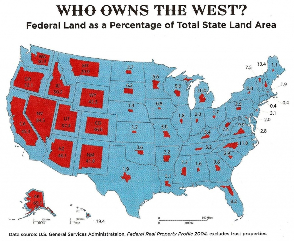 See How Much Of Your State Is Ownedthe Federal Government - Vox - California Land Ownership Map