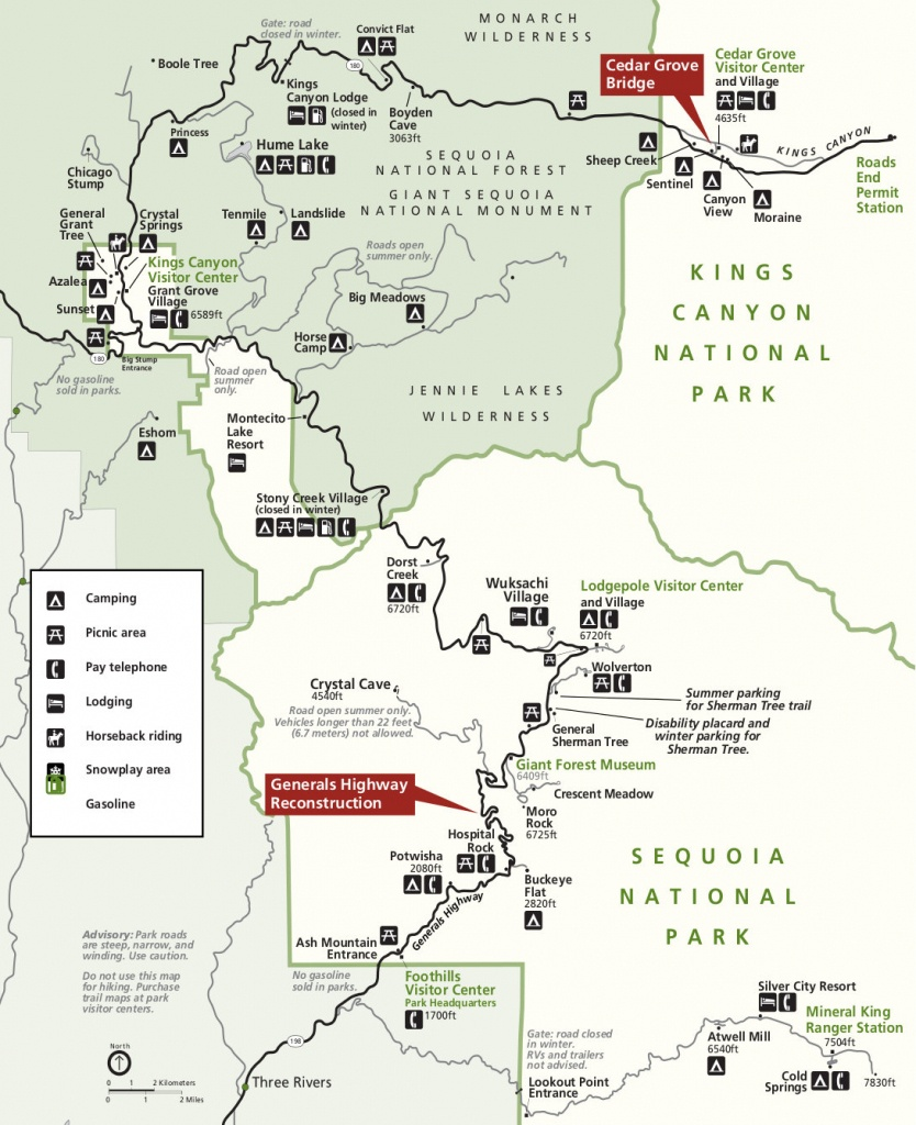 Sequoia Maps | Npmaps - Just Free Maps, Period. - Sequoia National Park California Map