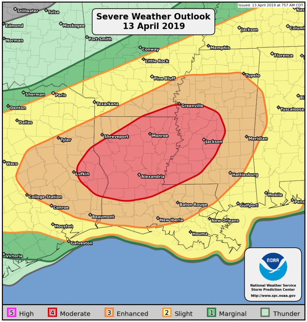 Severe Storms On April 13, 2019 - Texas Windstorm Map Harris County