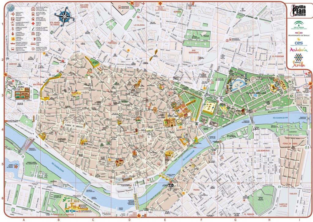 Seville City Center Map - Printable Tourist Map Of Seville