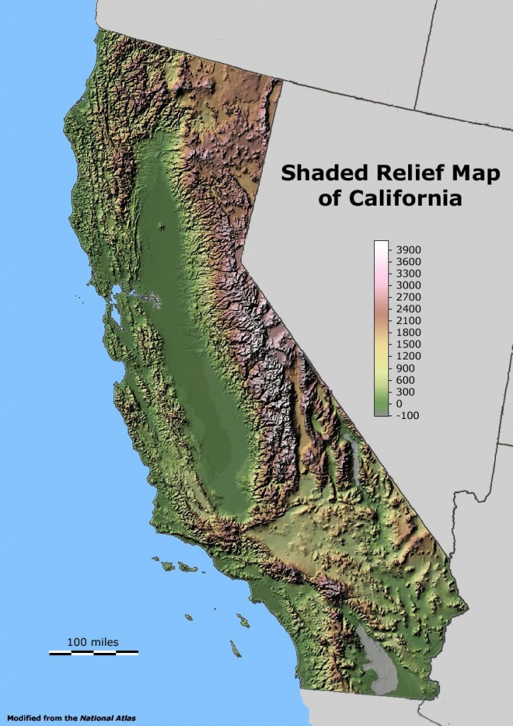Shaded Relief Map Of California. | Maps I Like | California Map - California Relief Map