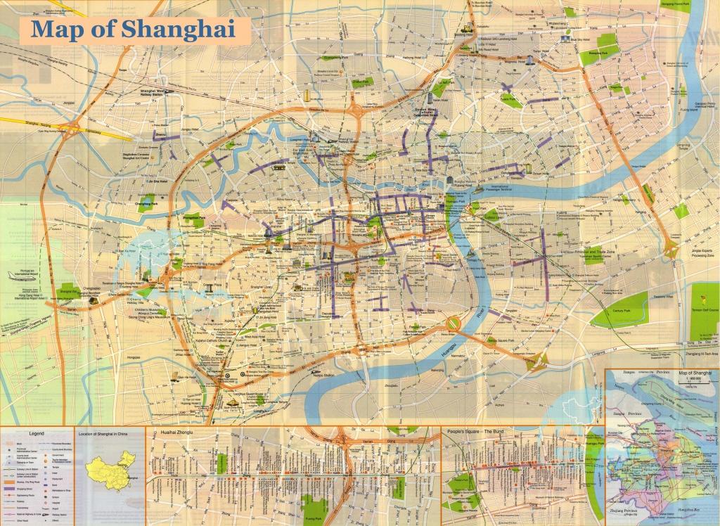 Shanghai Map, Printable Shanghai Map,shanghai Travel Map,large - Printable Travel Map