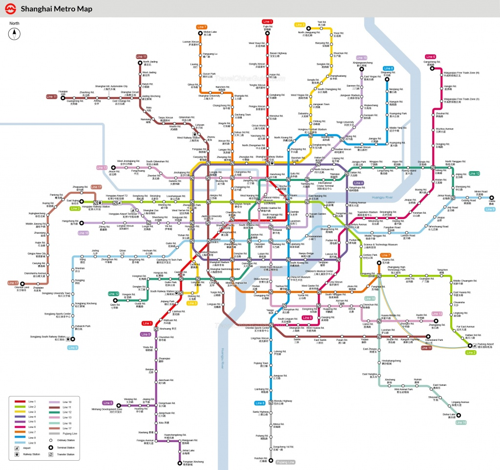 Shanghai Metro Maps, Printable Maps Of Subway, Pdf Download - Printable Metro Map