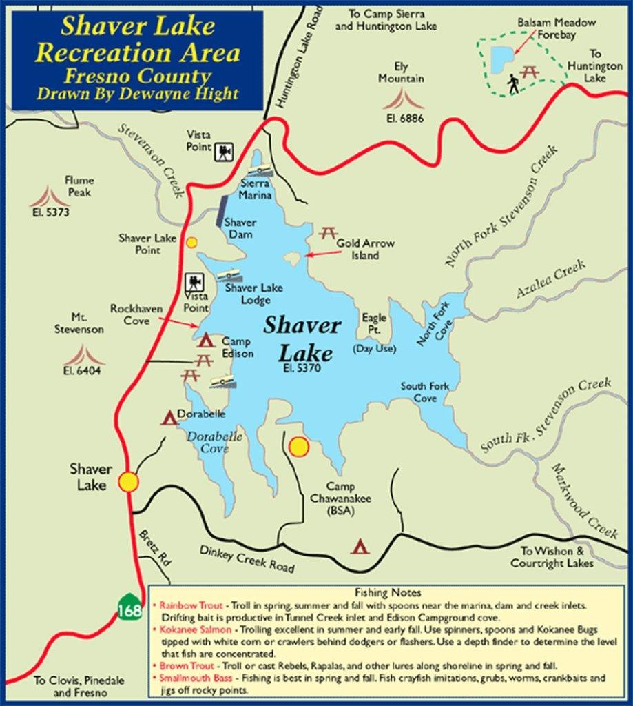 Shaver Lake Map | Dehazelmuis - Shaver Lake California Map