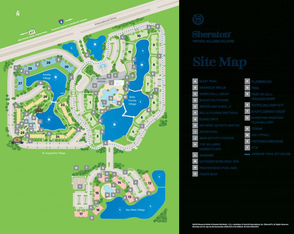 Sheraton Vistana Villages - Map - Starwood Hotels Florida Map