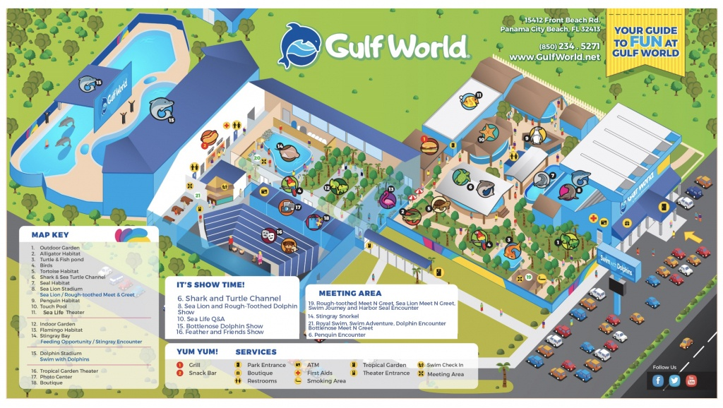 Show Schedule - Gulf World Marine Park - Panama Beach Florida Map