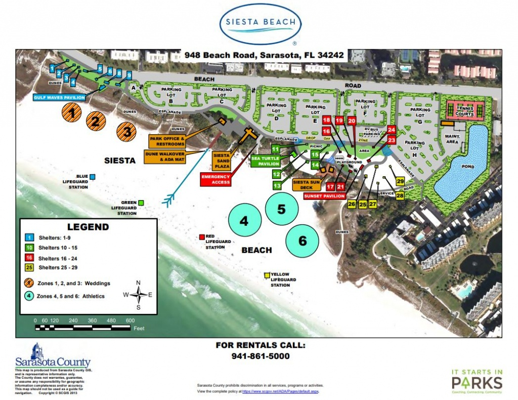 Siesta Key Public Beach Access Information | Rent Siesta Key - Siesta Beach Sarasota Florida Map