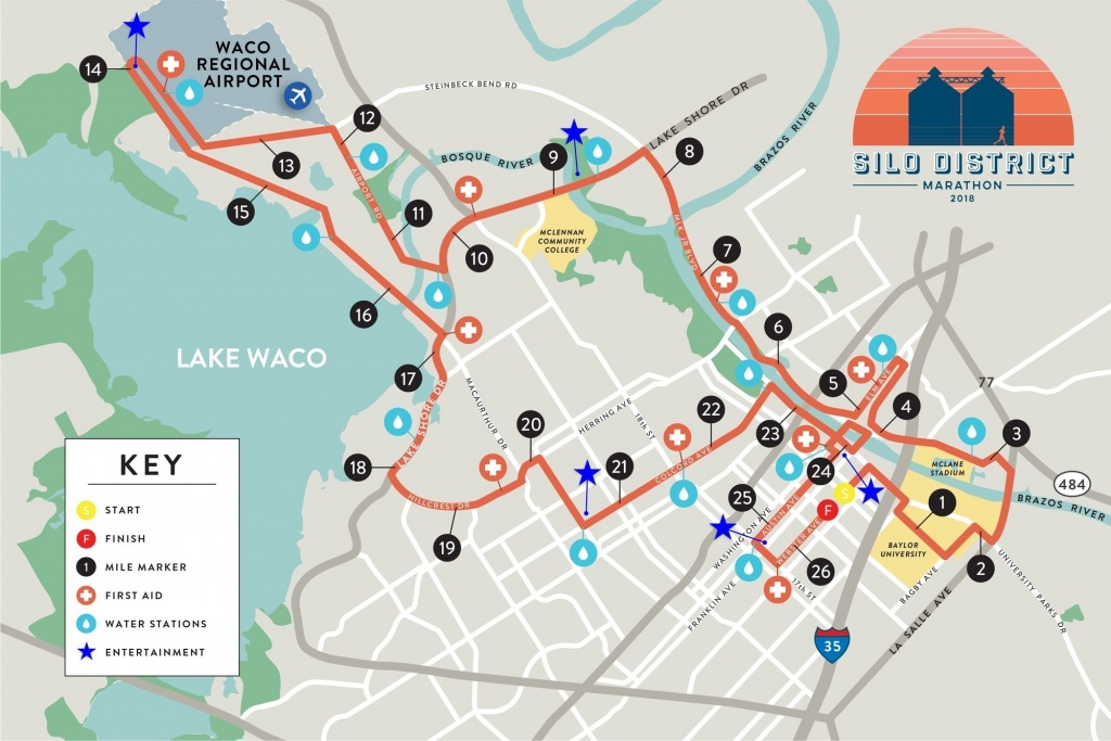 Silo District Marathon Map - Full Marathon Waco | Magnolia - Map Of Waco Texas And Surrounding Area