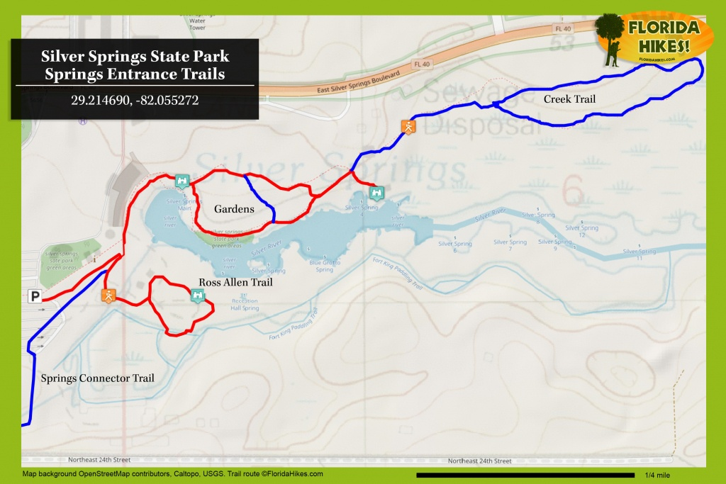 Silver Springs State Park | Florida Hikes! - Silver Springs Florida Map