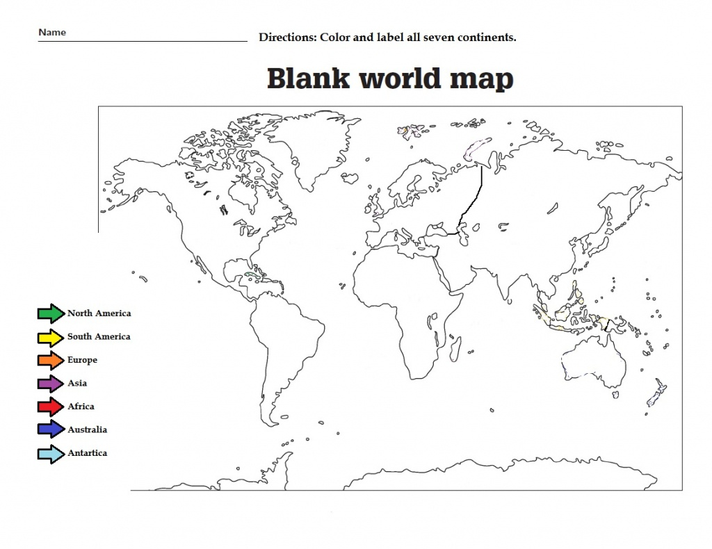 Simple Map Of North America For Kids And Travel Information - Printable Map Of North America For Kids