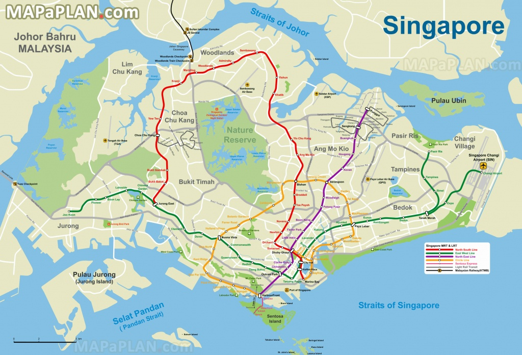 Singapore Maps - Top Tourist Attractions - Free, Printable City - Printable Map Of Singapore