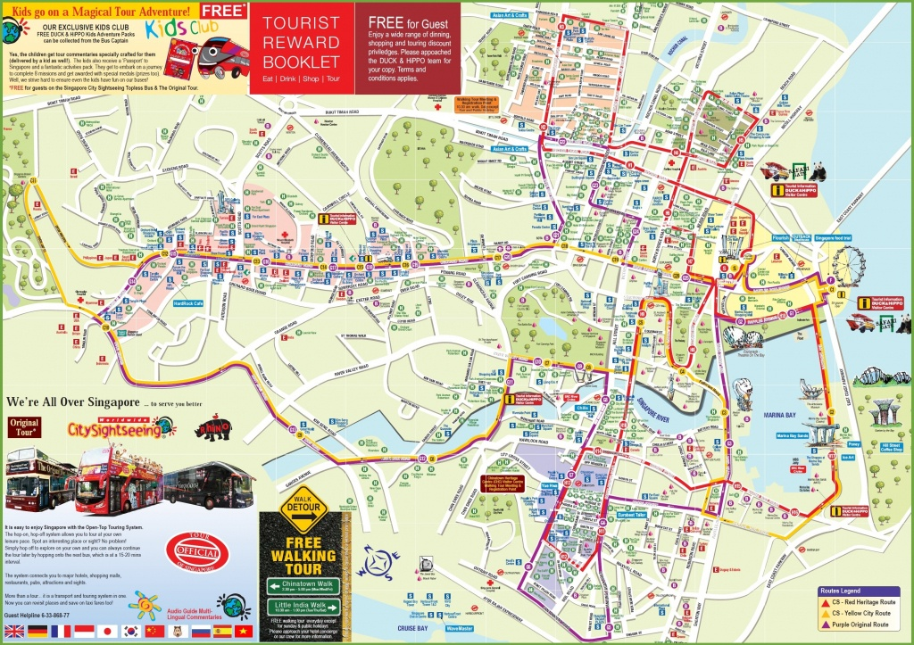Singapore Tourist Map - Singapore City Map Printable