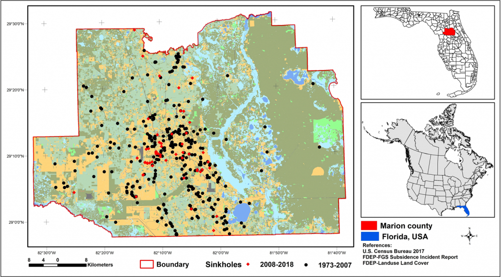 Sinkhole Susceptibility Mapping In Marion County, Florida - Florida Geological Survey Sinkhole Map
