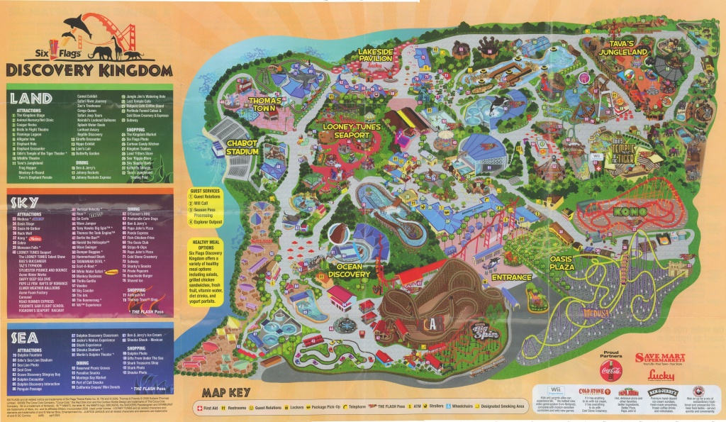 Six Flags Discovery Kingdom Map | Vacations | Six Flags, Cover, Books - Six Flags Map California 2018