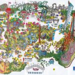 Six Flags Magic Mountain Map. | Assorted Ii In 2019 | Theme Park Map   Printable Six Flags Over Georgia Map