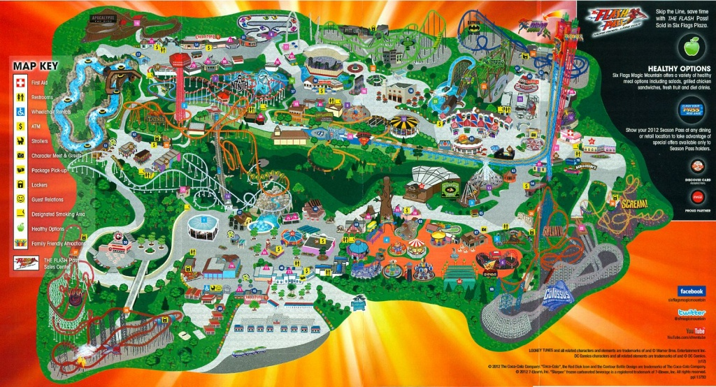 Six Flags Magic Mountain | Six Flags Magic Mountain Dc Universe - Six Flags Fiesta Texas Map 2018
