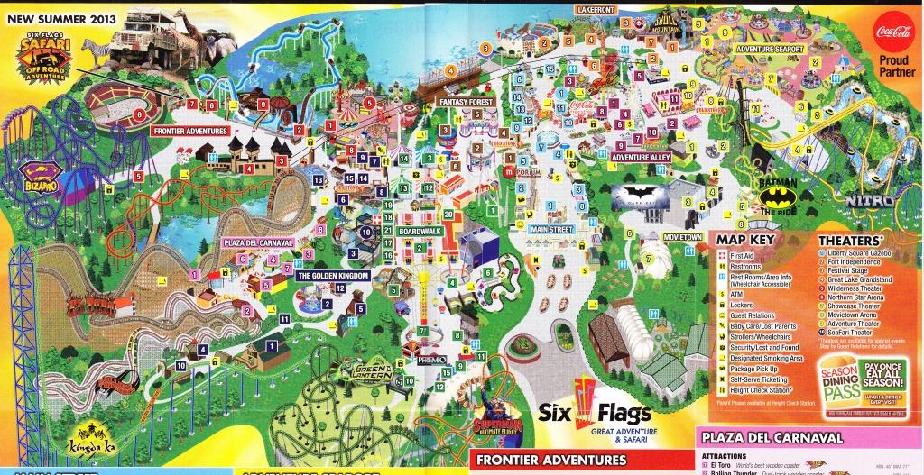 Six Flags New Jersey Map | Woestenhoeve - Six Flags Map California 2018