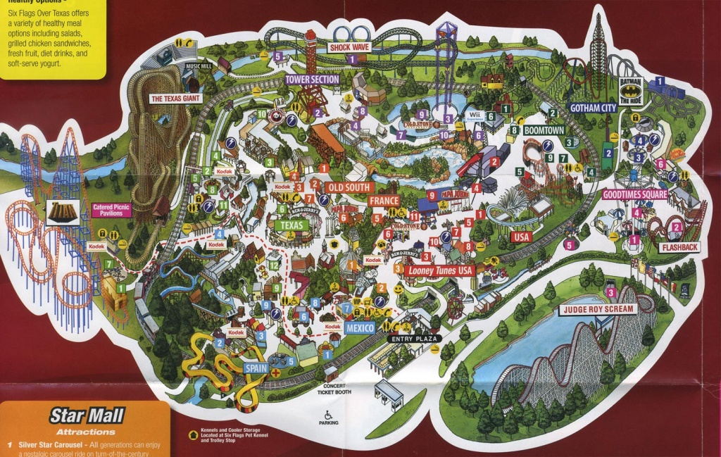 Six Flags Over Texas Map | Business Ideas 2013 - Printable Six Flags Over Georgia Map