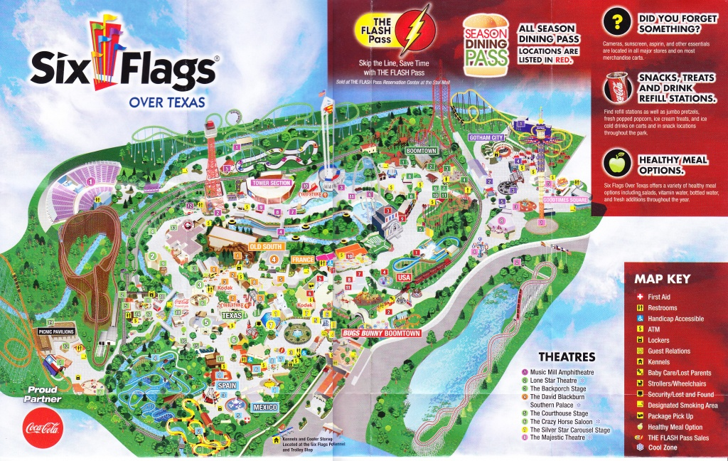 Six Flags Over Texas Map | Sitedesignco - Six Flags Fiesta Texas Map 2018