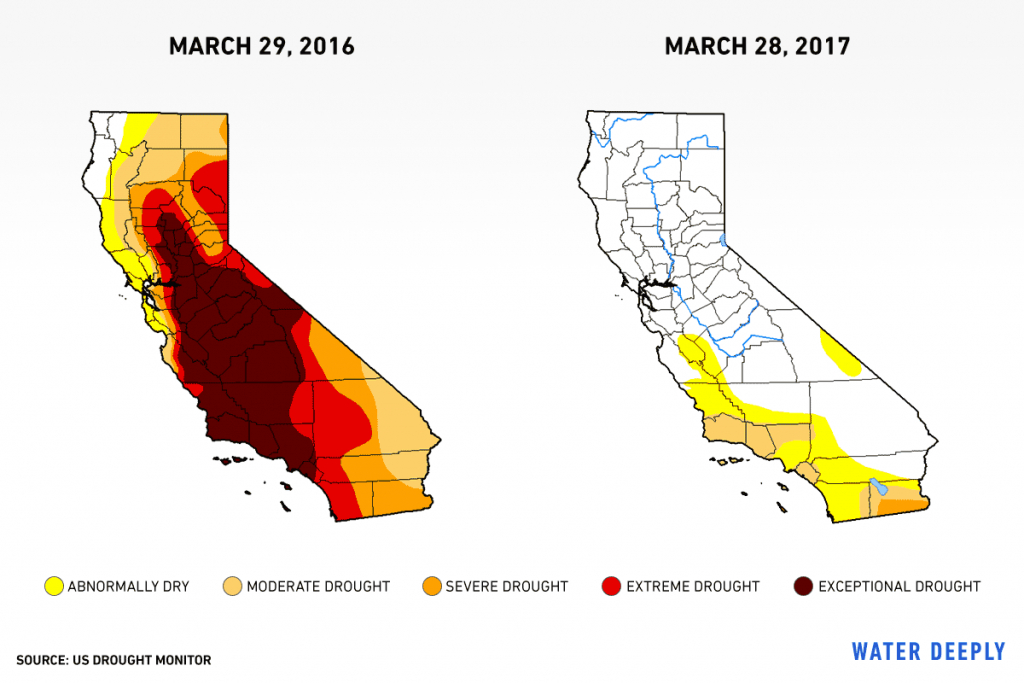 Six Images Show What Happened To California's Drought — Water Deeply - California Drought Map