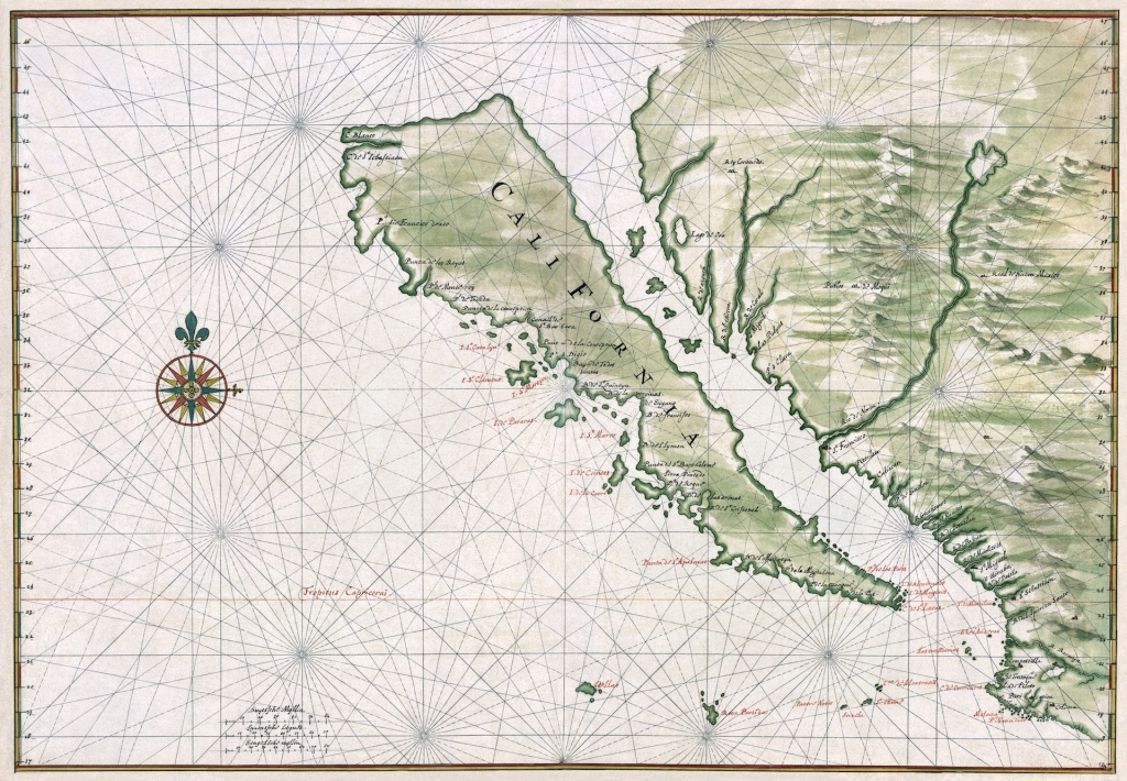 Six Strange Maps Of California | Kcet - Early California Maps