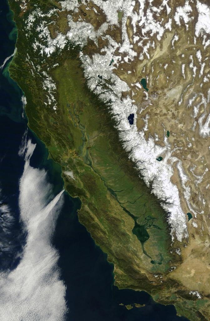 Six Strange Maps Of California   Kcet - Live Satellite Map California