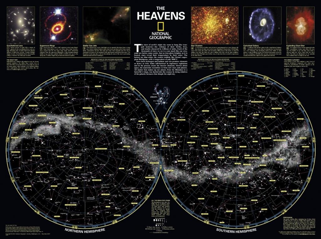 Skymaps - Publication Quality Sky Maps & Star Charts - Texas Night Sky Map