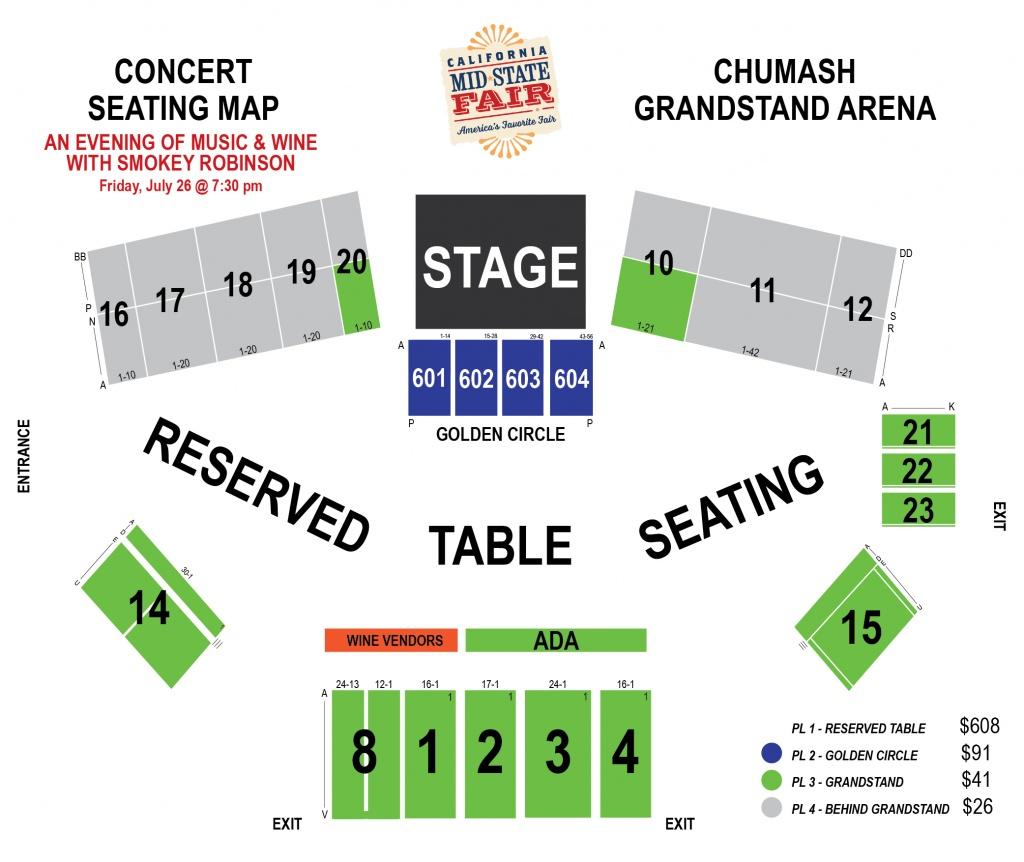 Smokey Robinson - (An Evening Of Music & Wine)   Ticketswest - Map Of California Mid State Fair