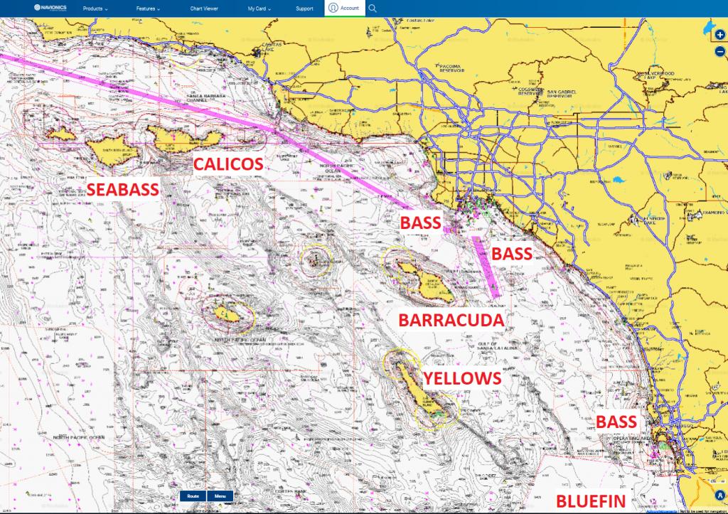 Socal Bluefin & Yellowtail Bite | Bdoutdoors - Southern California Fishing Map