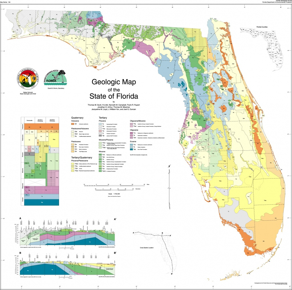 Sofia - Florida Geologic Map - Map Of S Florida