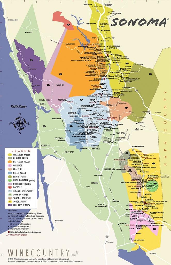 Sonoma County Wine Country Maps - Sonoma - California Wine Map Poster