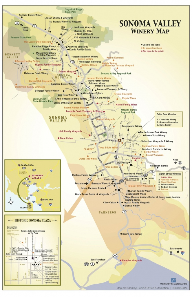 Sonoma Valley Winery Map - New Updates! Click The Link For - Map Of Wineries In Sonoma County California