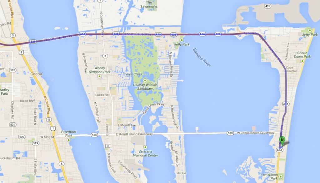 Sorce » Transportation / Maps - Coco Beach Florida Map