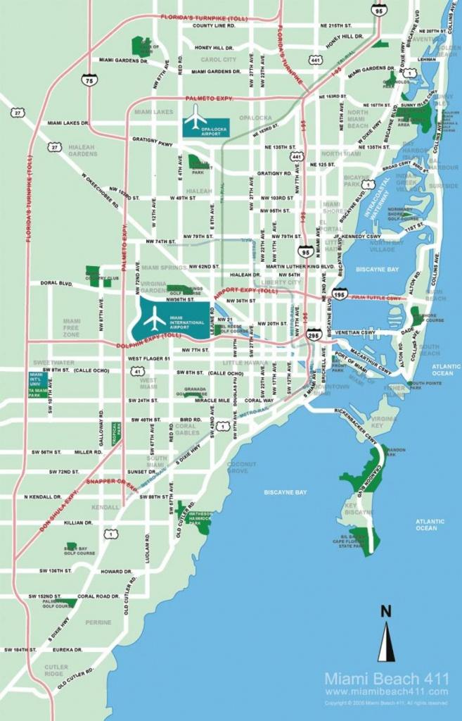 South Beach Miami Map - Map Of South Beach Miami (Florida - Usa) - Map Of South Beach Miami Florida