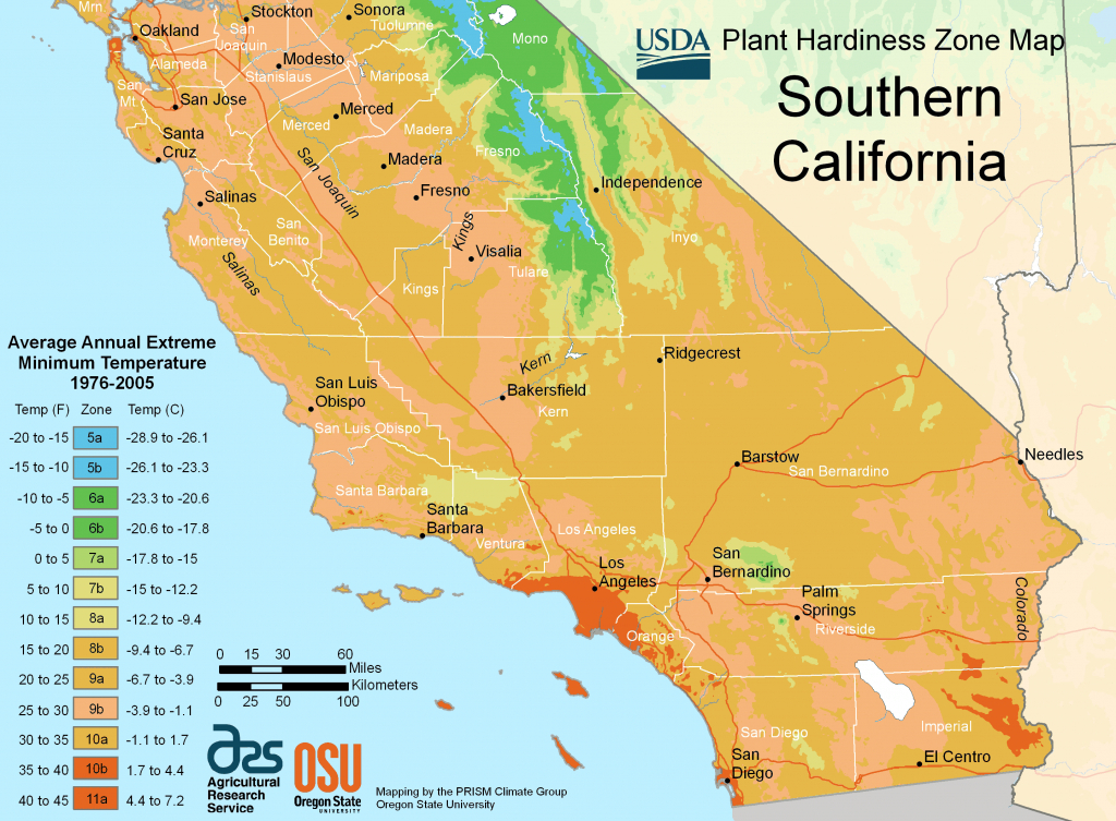 South California Plant Hardiness Zone Map • Mapsof - California Zone Map