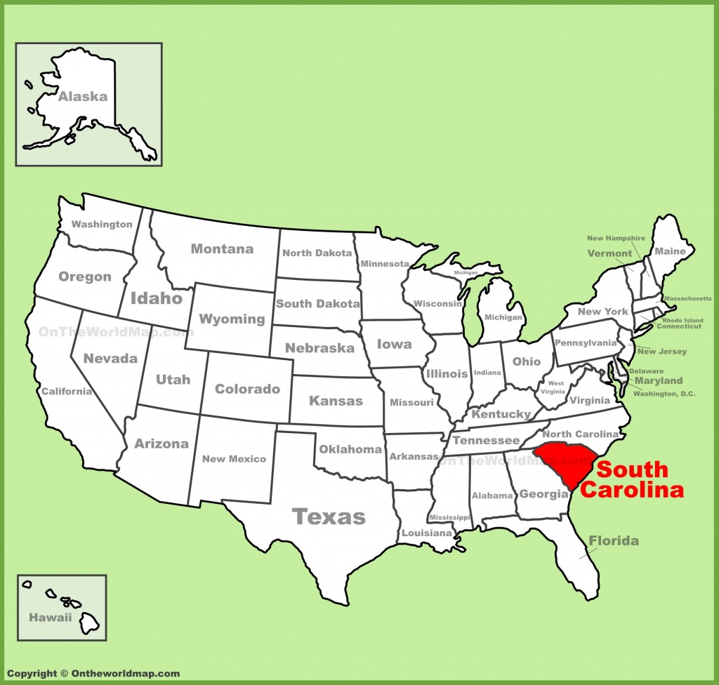 South Carolina State Maps | Usa | Maps Of South Carolina (Sc) - Myrtle Beach Florida Map